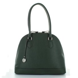 Casina, Leren Tas Bottle Green