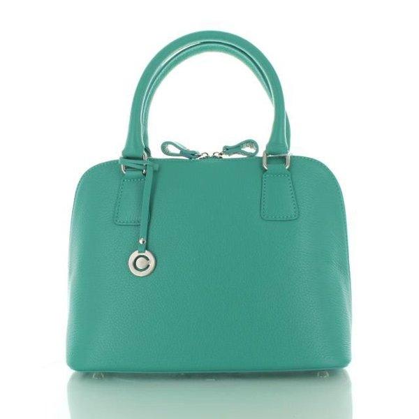 Felina, Leren Handtas Turquoise