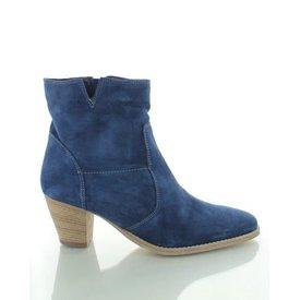 Viano, Suede Enkellaarzen Jeansblauw