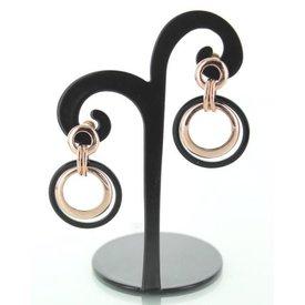 Oorbellen Ring Zwart