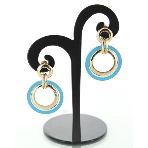 Oorbellen Ring Turquoise