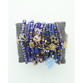 Kralenarmband Royal Blue