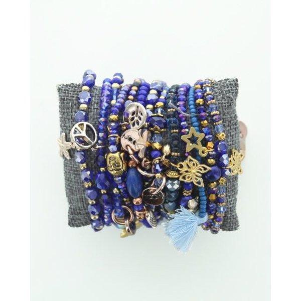 Kralenarmband Royal Blue