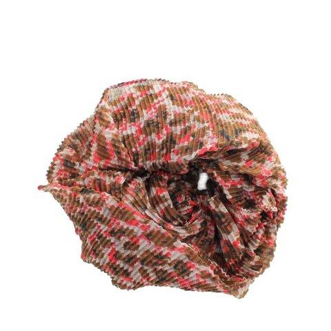 Sjaal, Oranje/ Bruin Panterprint