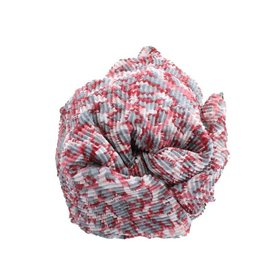Sjaal, Roze/ Grijs Panterprint