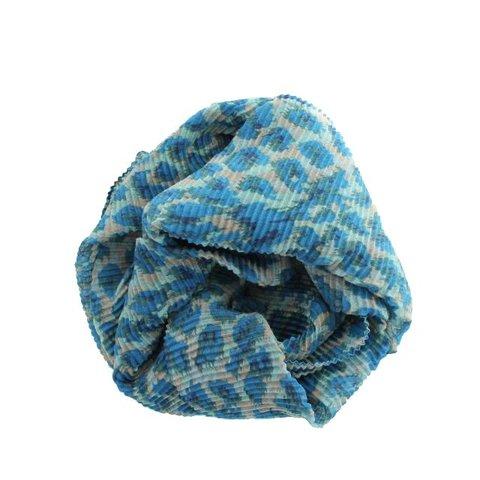 Sjaal, Petrol/ Groen Panterprint