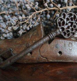 Smeedijzeren oude sleutel