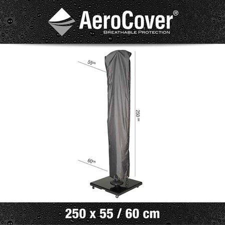 AeroCover Tuinmeubelhoezen Beschermhoes Zweefparasol 250 x 55/60 cm