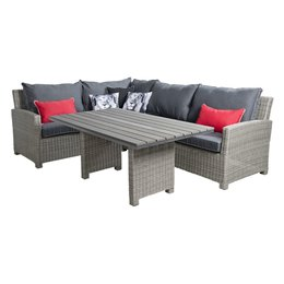 B7 Down Under Tuinmeubelen Lounge Diningset Birdwood XL Cloudy Grey