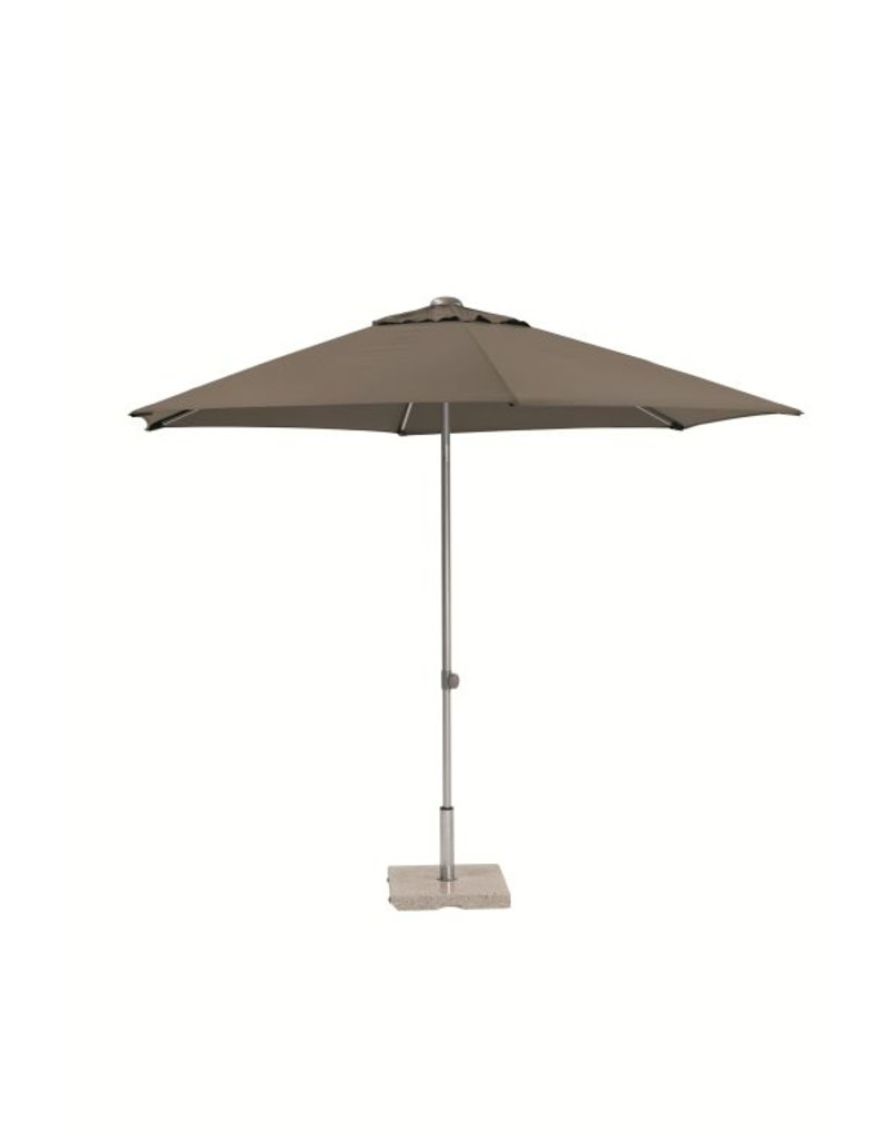 4 Seasons Outdoor Tuinmeubelen Parasol Push Up 250 cm ø Taupe