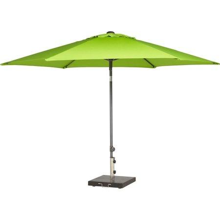 4 Seasons Outdoor Tuinmeubelen Parasol Push Up 300 cm ø Willow Green