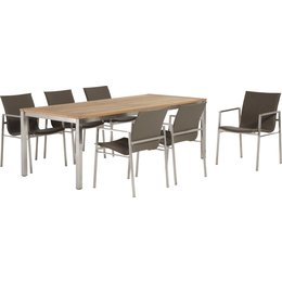 4 Seasons Outdoor Tuinmeubelen 7-delige tuinset Resort Taupe