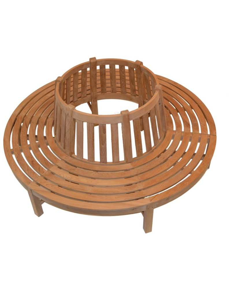 Traditional Teak Boombank Beatrice Rond