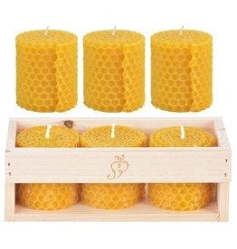 Esschert Kaars bijenwas Set van 3