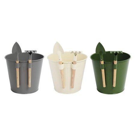 Esschert Bloempot met mini gereedschap