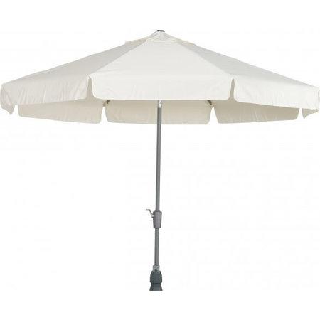 4 Seasons Outdoor Tuinmeubelen Parasol Toledo 350 cm rond Ecru