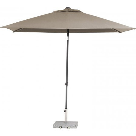4 Seasons Outdoor Tuinmeubelen Parasol Push Up 200x250 cm Taupe