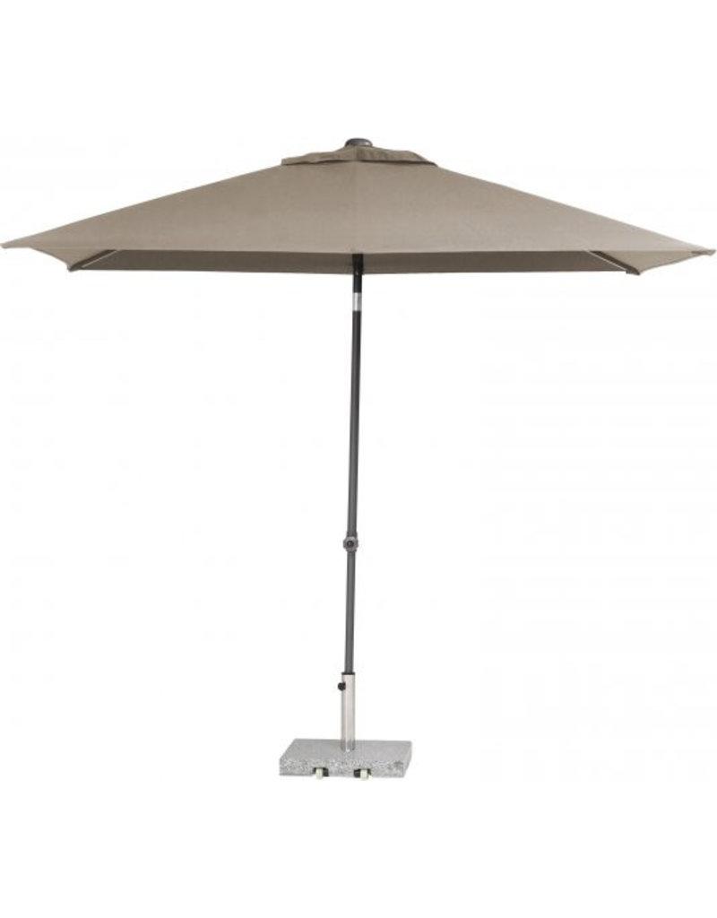 4 Seasons Outdoor Tuinmeubelen Parasol Push Up 200x250 cm Taupe