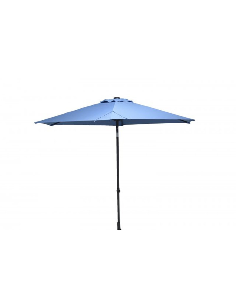 4 Seasons Outdoor Tuinmeubelen Parasol Push Up 300 cm rond Light Blue