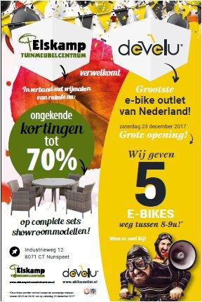 Unieke samenwerking tussen Elskamp Tuinmeubelcentrum en Develu