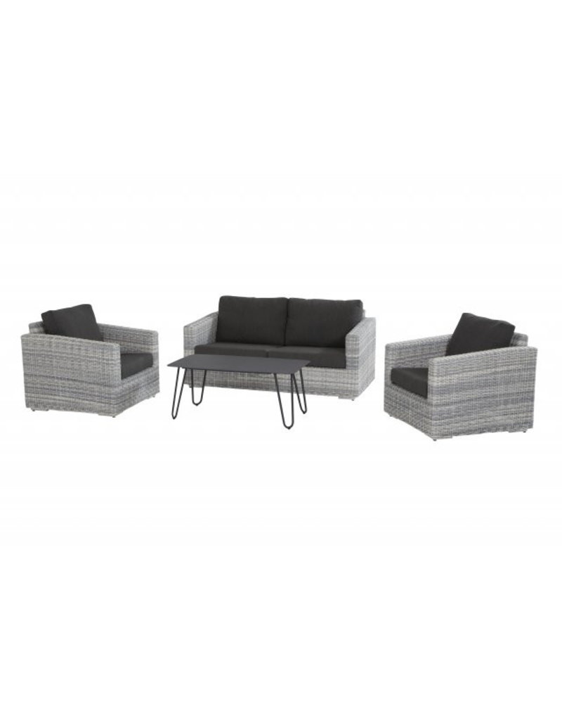4 Seasons Outdoor Tuinmeubelen Loungeset Edge 4- delig met salontafel Cool