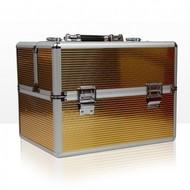 Merkloos Aluminium koffer met opbergvakken Gold