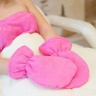 Mega Beauty Shop Badstof handschoenen Donker Roze