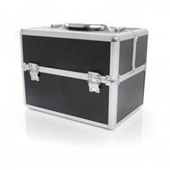 Aluminium luxe koffer - zwart