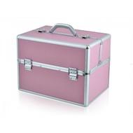 Merkloos Aluminium luxe koffer - roze