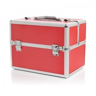 Aluminium luxe koffer - rood