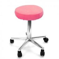 Merkloos Hoes voor krukken  (zitvlak) Donker Roze