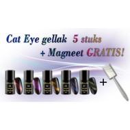 Mega Beauty Shop Cat Eye Set - 5 stuks + Magneet standaard GRATIS!