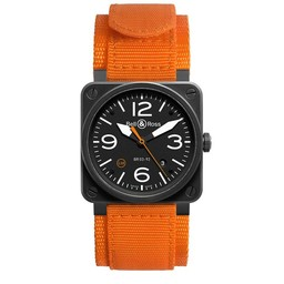 Bell & Ross Limited Edition  BR03-92 Carbon Orange BR0392-O-CA