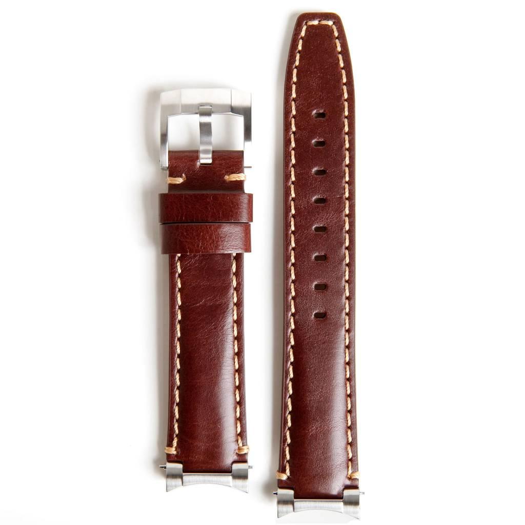 Everest Rolex straps Everest Brown Steel end Link Leather, EH3BRN