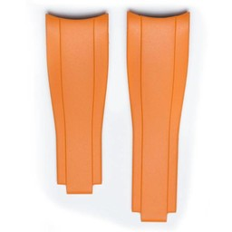 Everest Rolex straps Orange Rubber 4 by 6, EH7ORG46