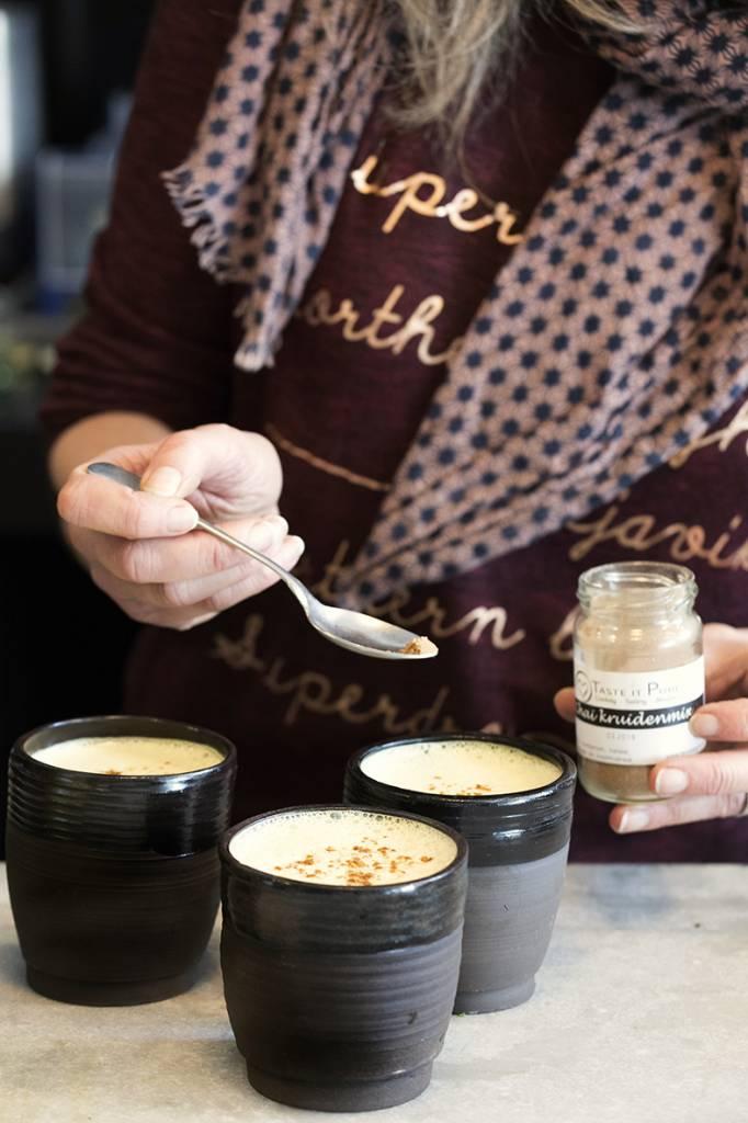 Almond turmeric chai latte
