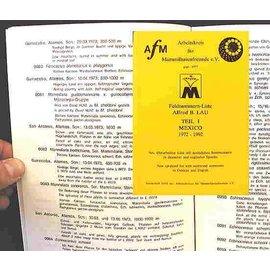 Feldnummern-Liste Lau, Teil I Alfred B. Lau