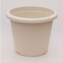 gran pote Terrae Cilindro 25 cm blanco