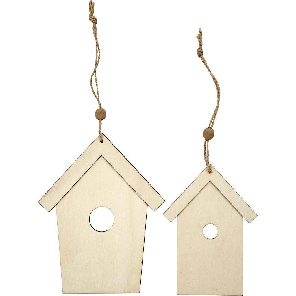 Houten decoratie vogelhuis axelle din hobby corner for Houten decoratie