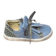 Jeune fille en fleur Sneaker, blauw met retroprint op de hiel UV