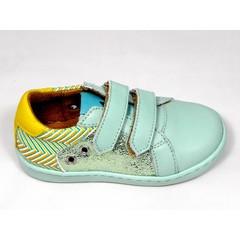 Maa MAA sneaker velcro aqua/glitter/mosterd 22,23,24