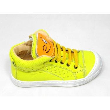Ocra Ocra sneaker geel met smiley 25-30