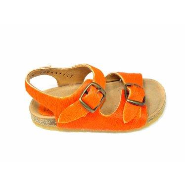 Bisgaard Bisgaard sandaal oranje ponyhaar 24-30,39
