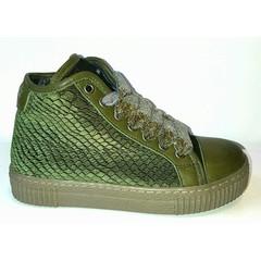 Julz Sneaker green velvet UV