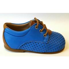 Eli Veterschoen blauw/cognacdetail 21.23.24.25
