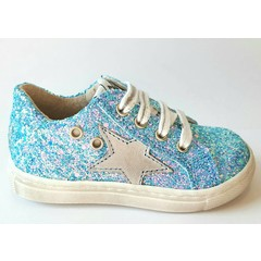 EB Sneaker blauwe glitter 20.21.22.23.27