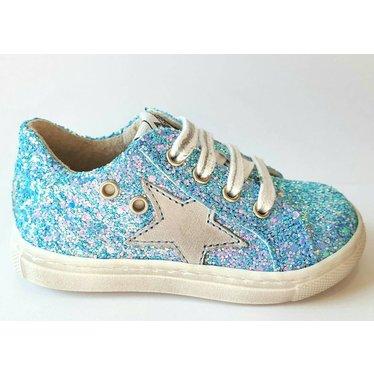 EB Sneaker blauwe glitter 20.21.22.23.24.25.26.27