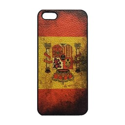 Spaanse vlag / Spanje - retro hoes iPhone 5 / 5s
