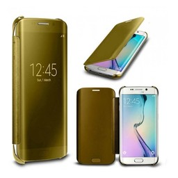 Goude Clear View cover hoes - Samsung Galaxy S6 Edge