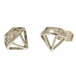 "Ohrringe ""Diamant silber"""